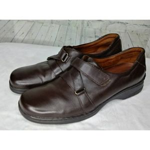 Naturalizer Brown Leather Shoes w Velcro SZ 10 N